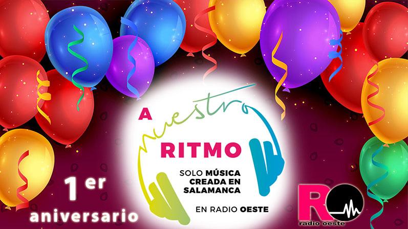 primer aniversario de A Nuestro Ritmo en Radio Oeste