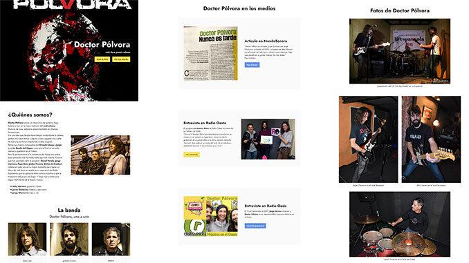captura web Doctor Pólvora rock urbano desde Salamanca