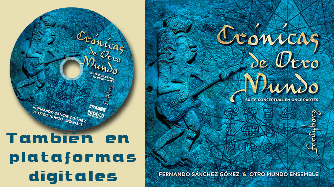 galleta y portada del CD Crónicas de Otro Mundo, de FerCyborg