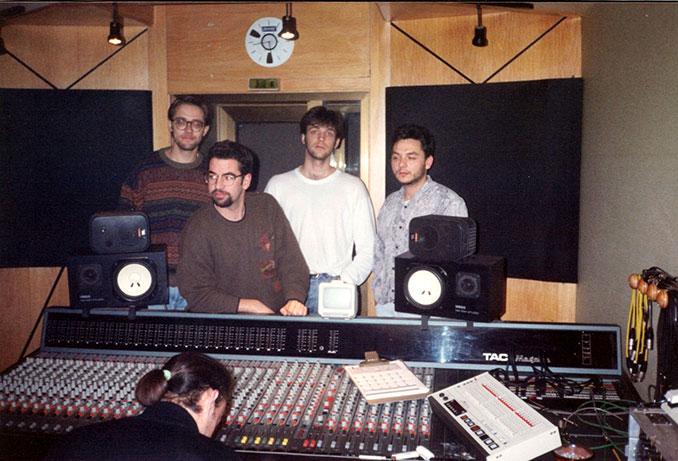 grabación del disco en el estudio Jammin' de Mérida (Oct-Dic 1993)