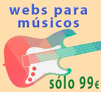 Páginas web para músicos por sólo 99 €