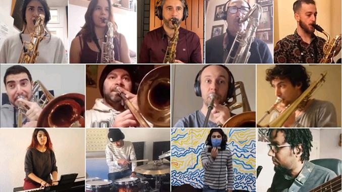 varios de los componentes de la Big Band de la USAL