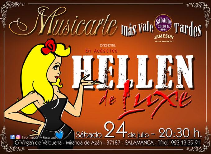 Flyer Hellen de Luxe Musicarte julio 21
