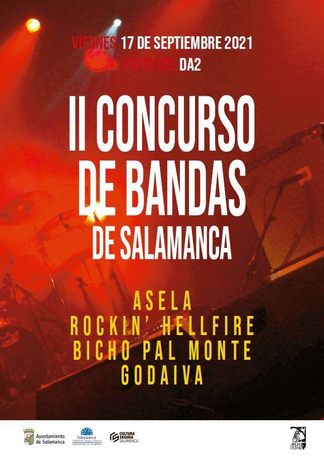II Concurso Municipal de bandas de Salamanca cartel